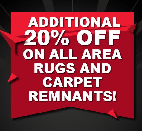 Take an additional 20% off on all area rugs and carpet remnants during Class Carpet's Black Friday Sale!